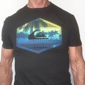 Quiksilver Mens Medium Retro Black T-shirt NWT